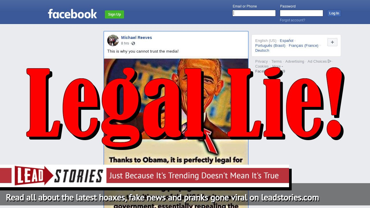 Fake News: Obama And HR4310 Did NOT Make It Legal For The Media To Lie To The American People (It Always Was...)