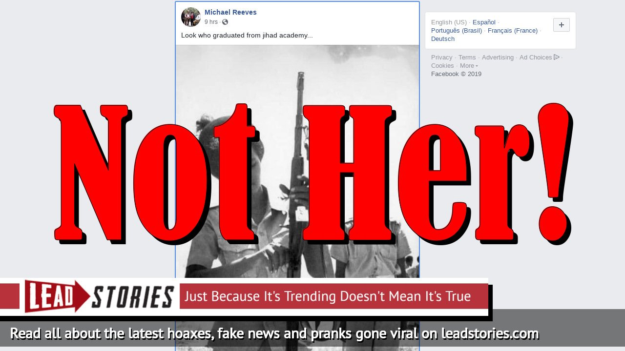 Fake News: Rep. Ilhan Omar Did NOT Graduate From Jihad Academy, Photo Of Woman In Somali Army Is From 1978
