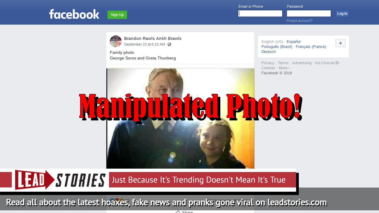 Fake News: Photo Showing Greta Thunberg and George Soros Is NOT Real