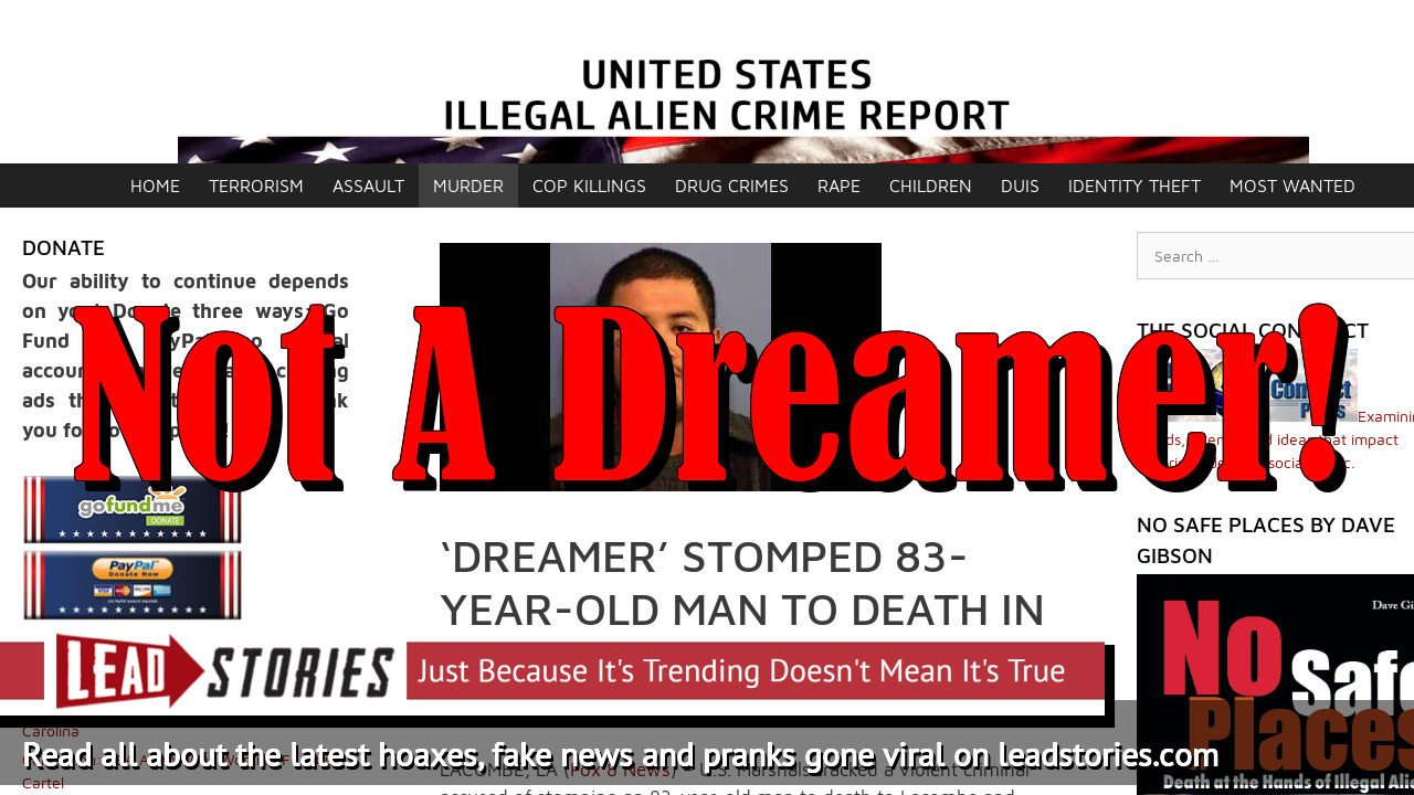 Fake News: 'Dreamer' Did NOT Stomp 83-Year-Old Man To Death In Texas
