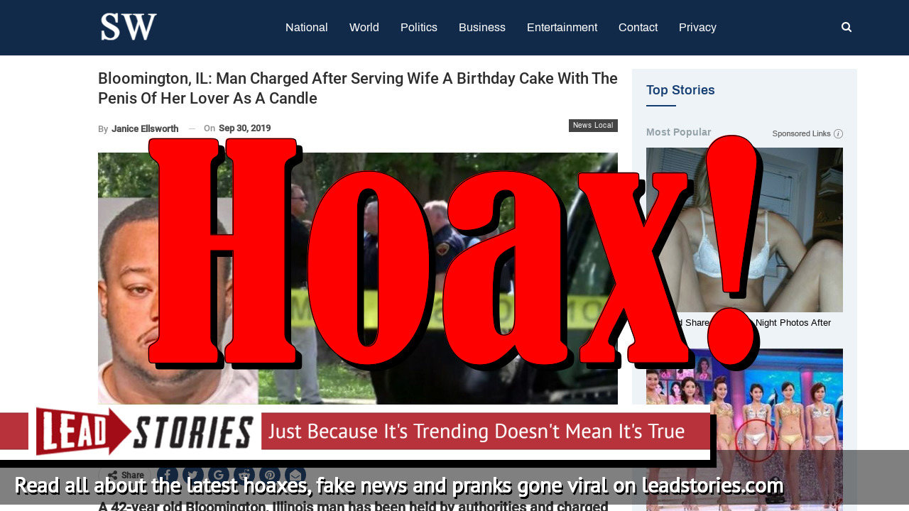 Fake News: Man Did NOT Serve Wife Birthday Cake With Penis of Her Lover as Candle