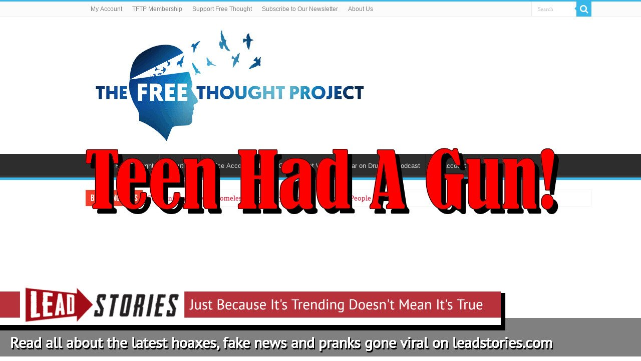 Fake News: Cop Chases Down Teen, Shoots Him Twice In The Head NOT Over Stop For A Bicycle Light -- Teen Had A Gun