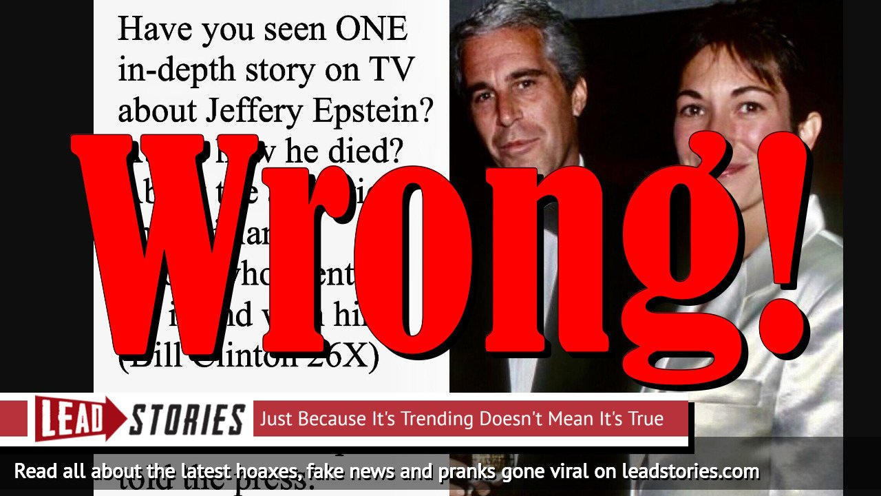 Fake News: President Trump Told The Press About Jeffrey Epstein: 'Check The Plane Manifests To His Island.' They Actually Did