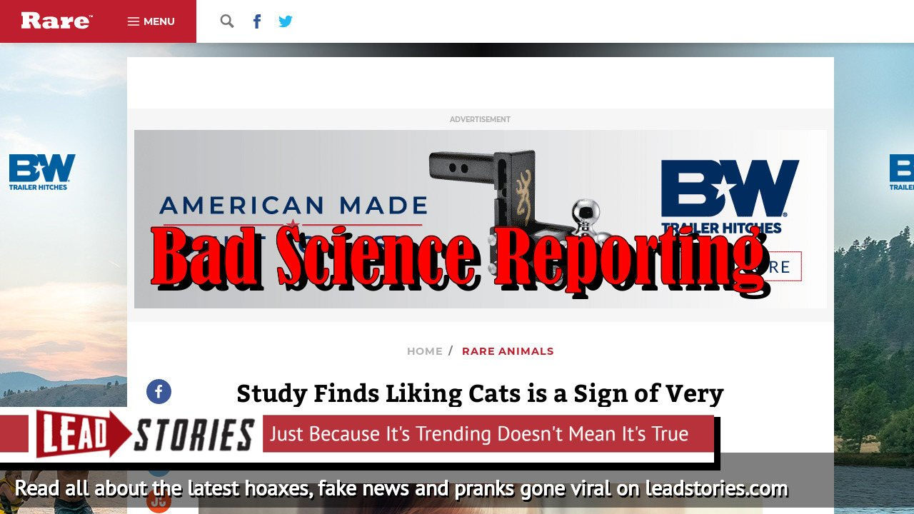 Fake News: Study Did NOT Find Liking Cats is a Sign of Very High Intelligence