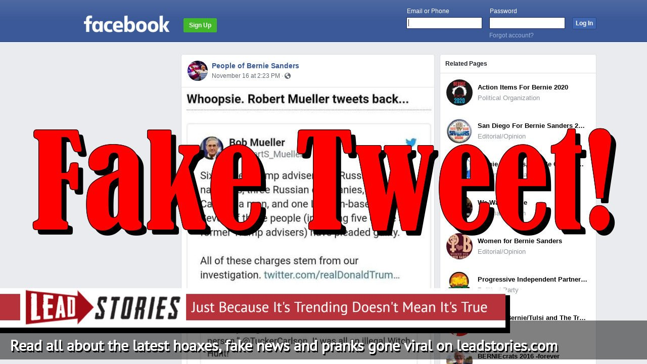 Fake News: Robert Mueller Did NOT Tweet Back At Donald Trump Over 'Witch Hunt' Post