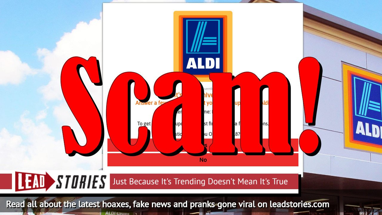 Fake News: Aldi Has NOT Announced Everyone Who Shares A Link Will Be Sent $75 Coupon
