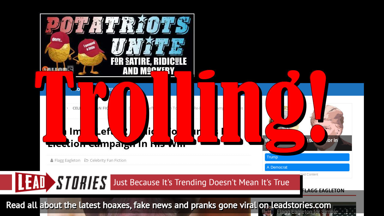 Fake News: Don Imus Did NOT Leave $2 Million To Trump's Re-Election Campaign In His Will