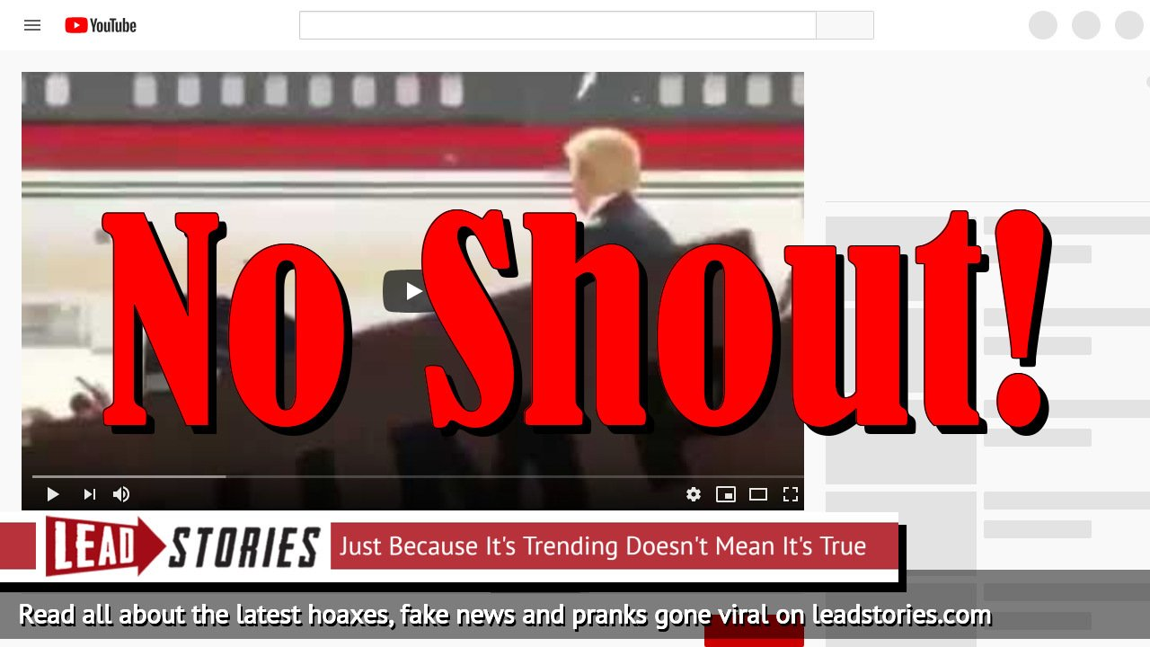 Fake News: Video Does NOT Show Trump Reacting To Allahu Akbar Shout From Crowd