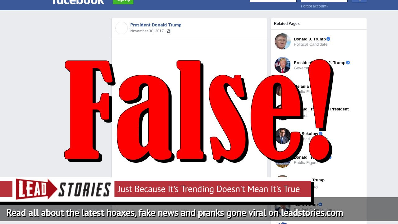 Screenshot of https://www.facebook.com/PresidentDonaldJTrump2017/posts/1999335196955255