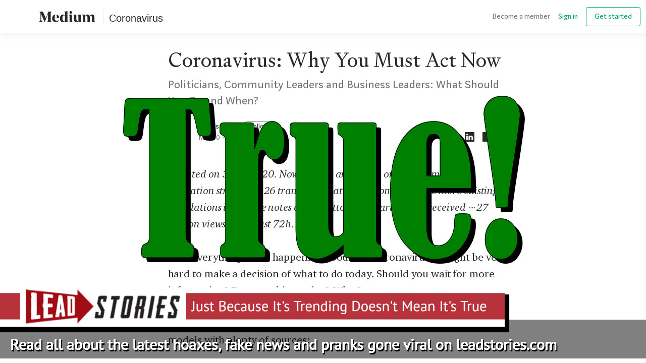 Screenshot of https://medium.com/@tomaspueyo/coronavirus-act-today-or-people-will-die-f4d3d9cd99ca