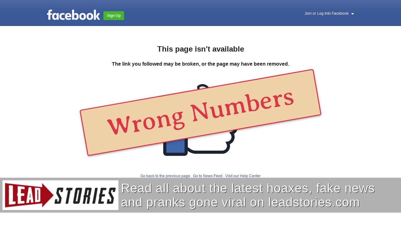Screenshot of https://www.facebook.com/permalink.php?story_fbid=2864431053636568&id=100002091051711