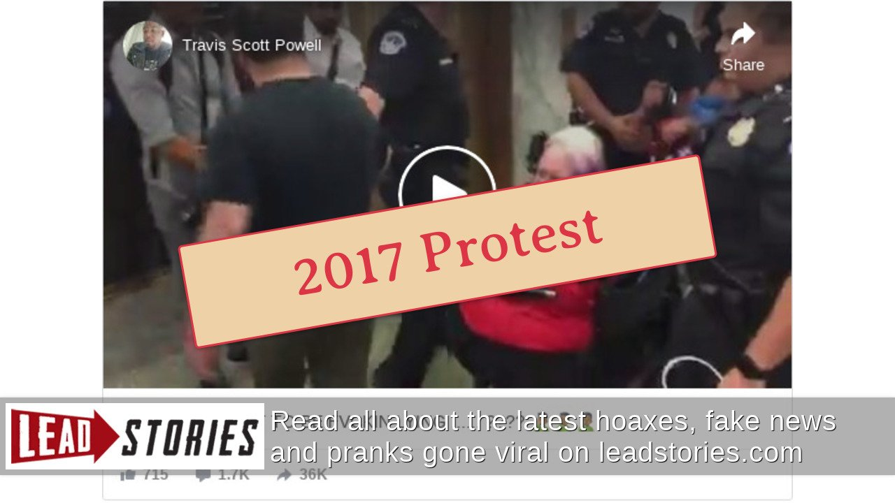 Fact Check: Video Does NOT Show Protesters in Wheelchairs Being Removed From Capitol Building During January 6, 2021 Events | Lead Stories