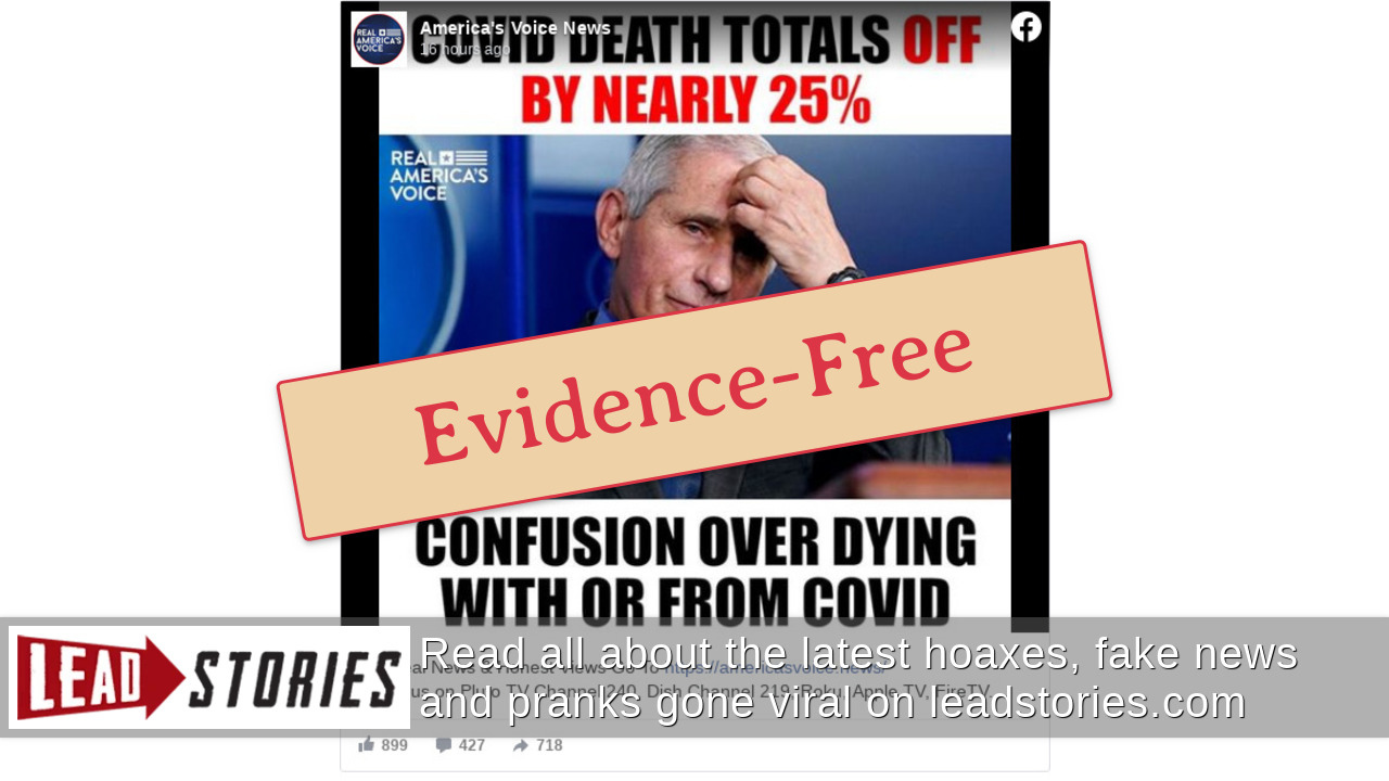 Fact Check: NO Evidence COVID-19 Death Totals Are Off By Nearly 25% | Lead Stories