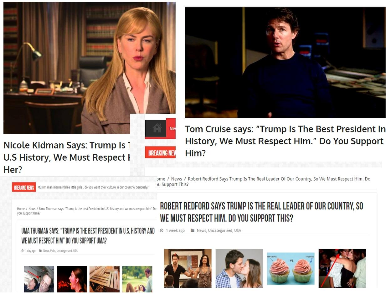 Fake News: Several Celebrities Did NOT Say Trump Is The Best President In U.S. History