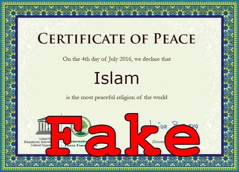 Fake News: UNESCO Did NOT Declare Islam As The Most Peaceful Religion of the World