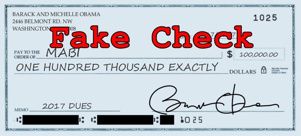 Fake News: Barack Obama Did NOT Sign $100.000 Check To The Muslim Brotherhood