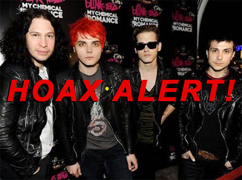 Hoax Alert: 'My Chemical Romance' NOT Getting Back Together; NOT Going On One Last Tour