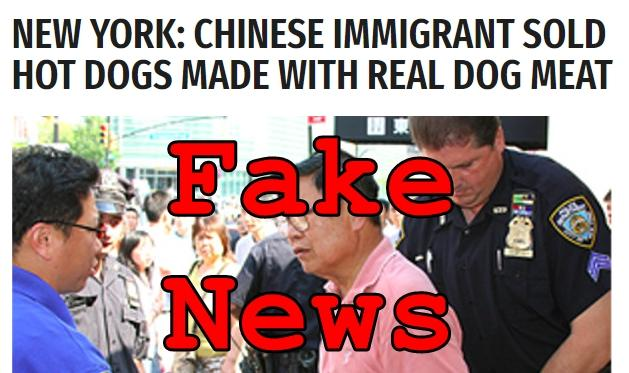 Fake News: Chinese Immigrant Did NOT Sell Hot Dogs Made With Real Dog Meat in New York
