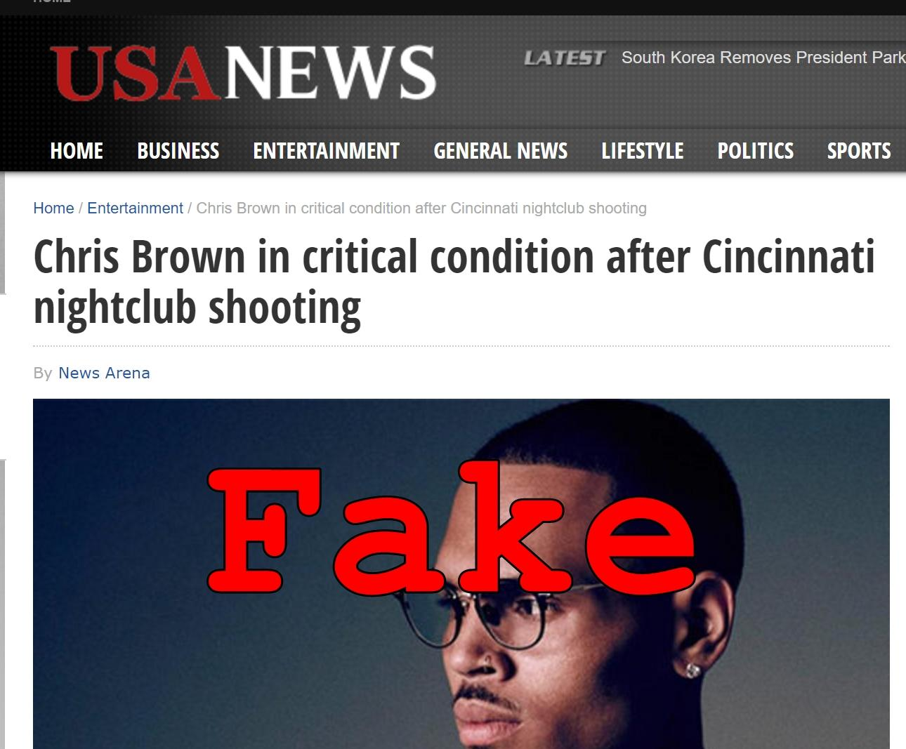 Fake News: Chris Brown NOT In Critical Condition After Cincinnati Nightclub Shooting