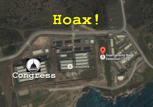 Hoax Alert: Obama DID NOT Sign Executive Order Relocating Congress to Guantánamo