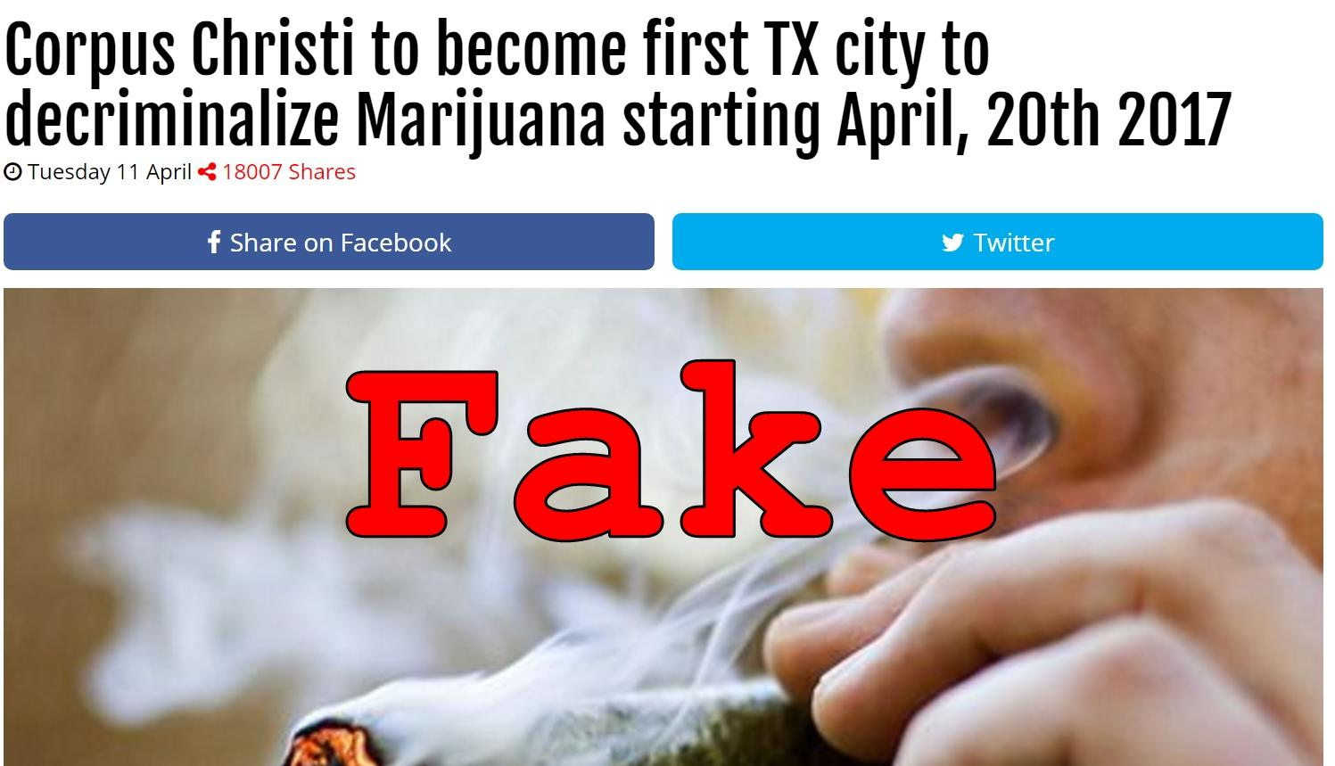 Fake News Corpus Christi Not To Become First Tx City To