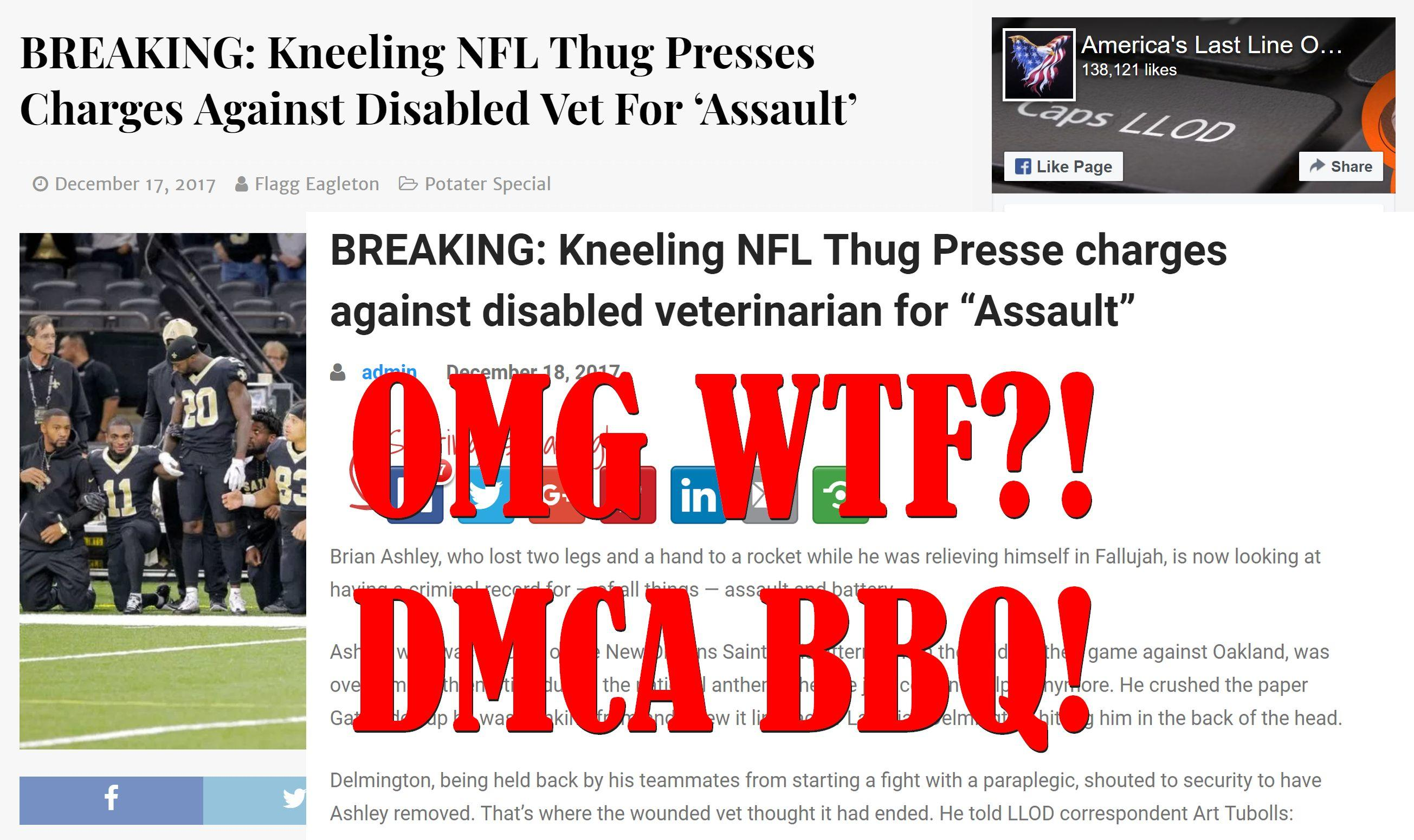 Christopher Blair Sends DMCA Takedown To Fake News Website Conservative Stamp, Hilarity Ensues