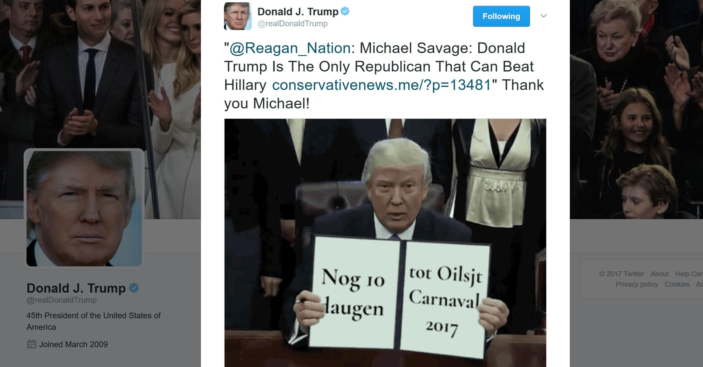 Did Donald Trump Just Tweet an Animated GIF of Himself? Yes He Did, Sort Of...