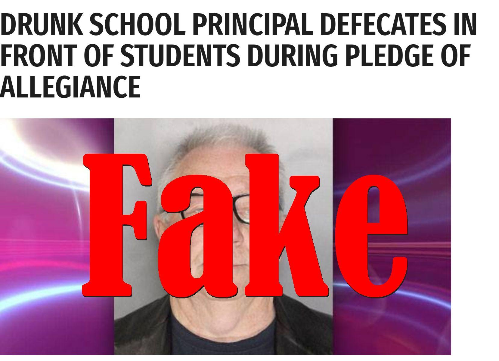 Fake News: Democrat Principal Did NOT Defecate In Front Of Students During Pledge Of Allegiance