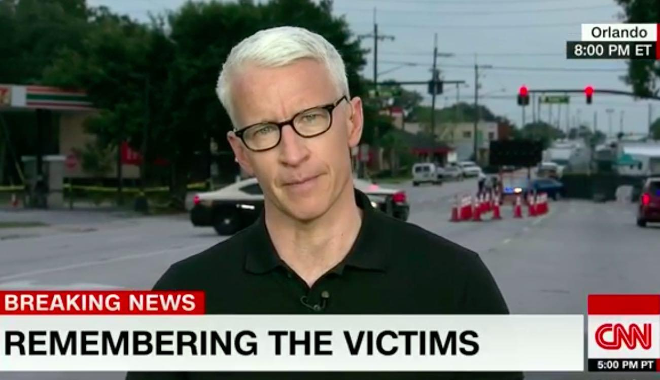 Watch: CNN's Anderson Cooper Gets Emotional Covering Orlando Gay Nightclub Massacre