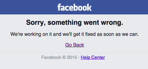 Oops! FaceBook's Down Again For Many!