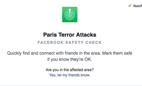 Facebook Friends In Paris? Use The Social Net's 'Safety Check'