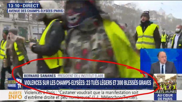 Fake News: Televison NOT Reporting 23 Dead, 300 Severely Wounded at 'Gilets Jaunes' Demonstration in Paris