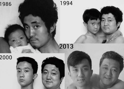 Viral Images: 28 Years Of Father-Son Photos