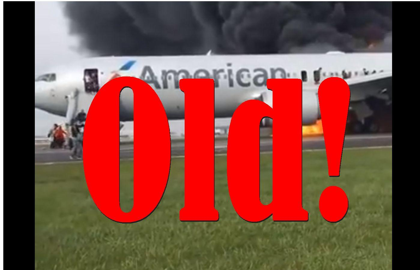 Fake News: There Is NO American Airlines Plane On Fire Right Now