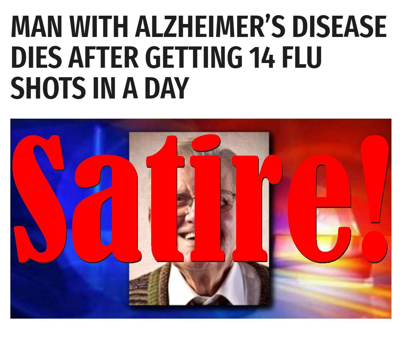 Fake News: Man With Alzheimer's Disease Did NOT Get 14 Flu Shots In A Day, Did NOT Die