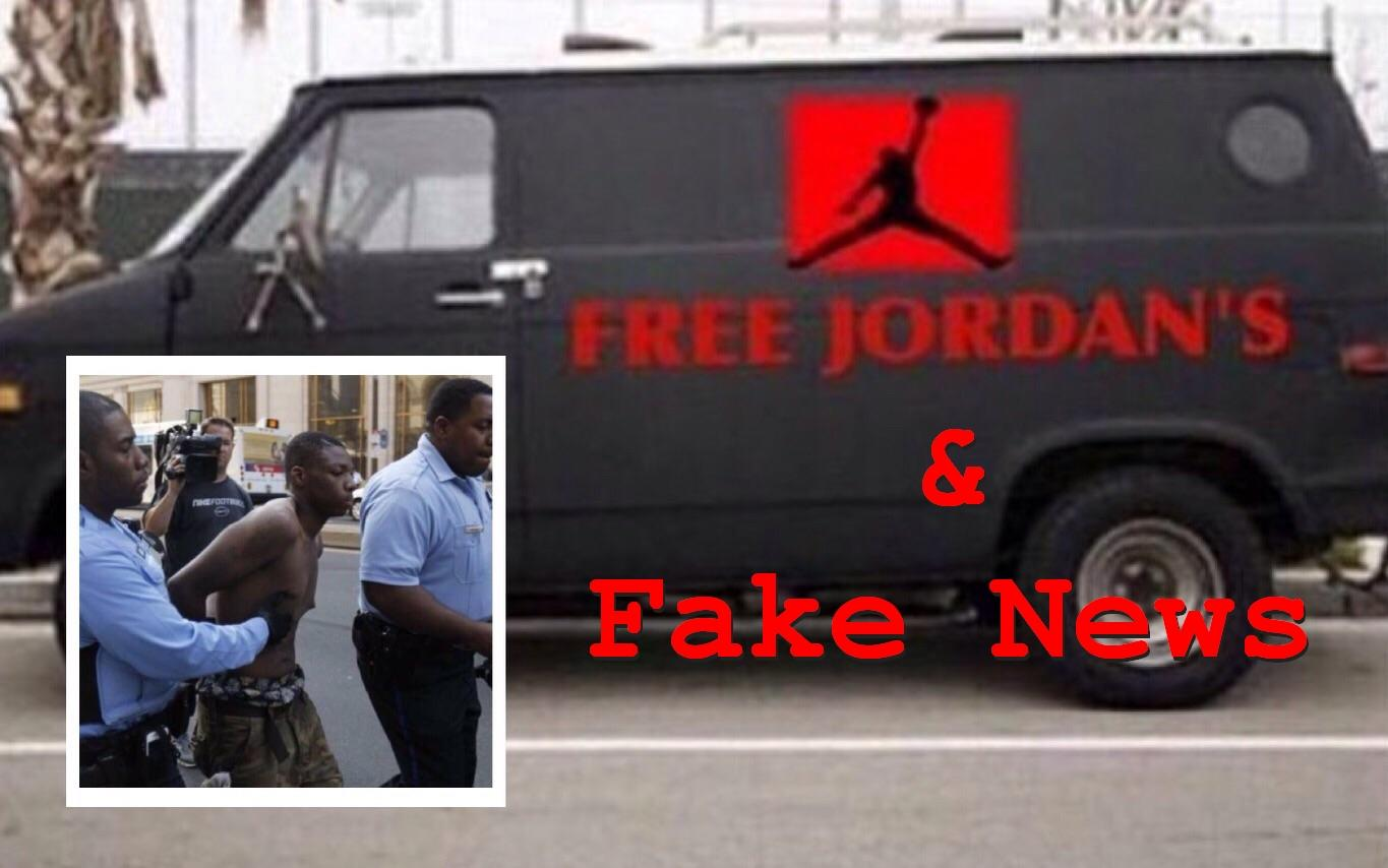 """Fake News: NO Man Arrested Who Used """"Free Jordans"""" Van To Abduct Teenagers"""