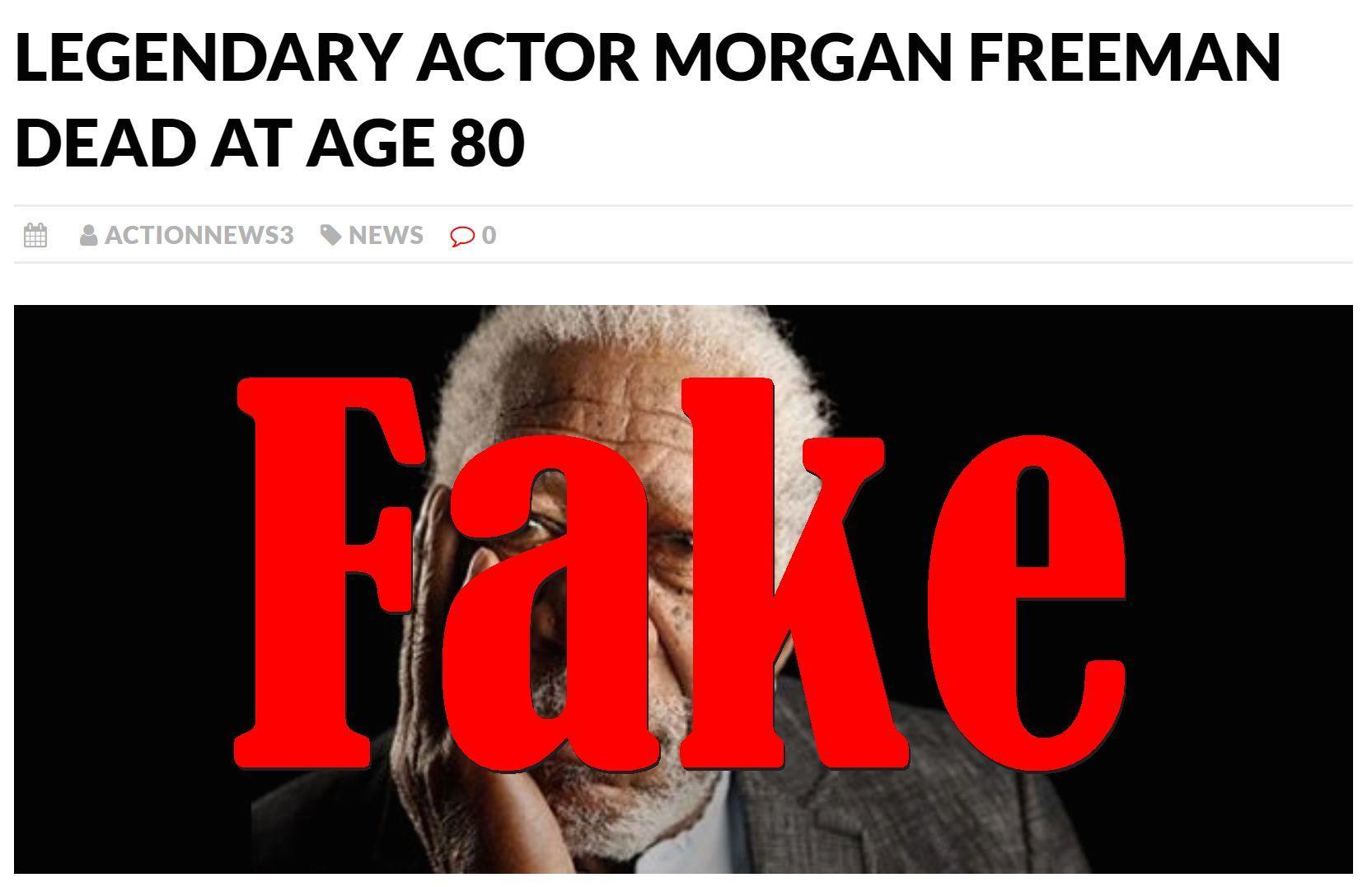 Fake News: Legendary Actor Morgan Freeman NOT Dead At Age 80