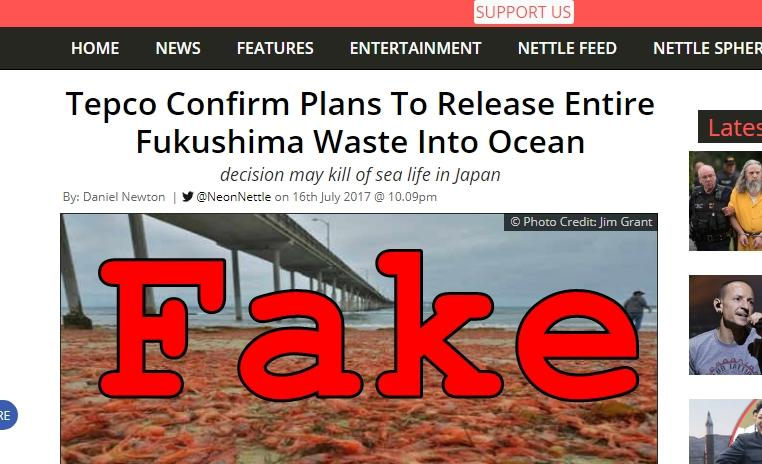 Fake News: Tepco Did NOT Confirm Plans To Release Entire Fukushima Waste Into Ocean