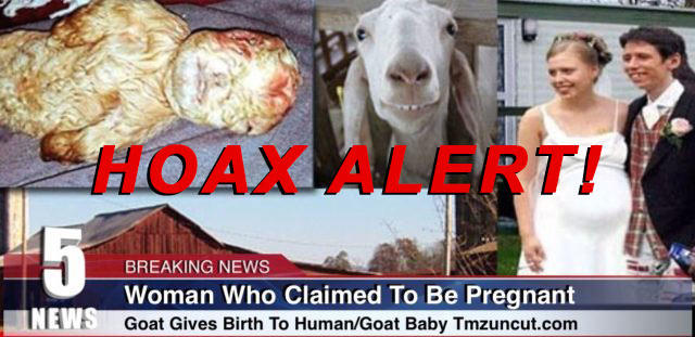 Hoax Alert: Woman DID NOT Claim To Be Pregnant By Goat, DID NOT Give Birth To Human/Goat Baby