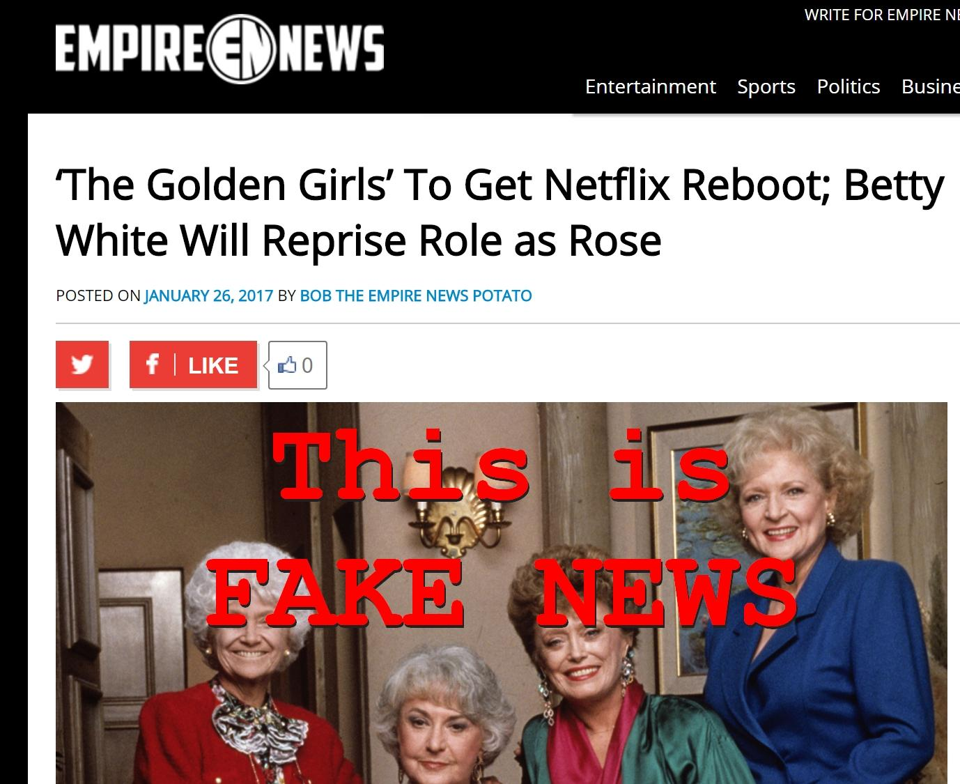 Fake News: 'The Golden Girls' NOT To Get Netflix Reboot; Betty White WON'T Reprise Role as Rose