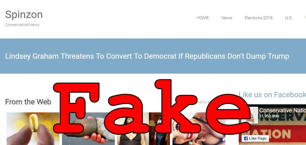 Fake News: Lindsey Graham Did NOT Threaten To Convert To Democrat If Republicans Don't Dump Trump