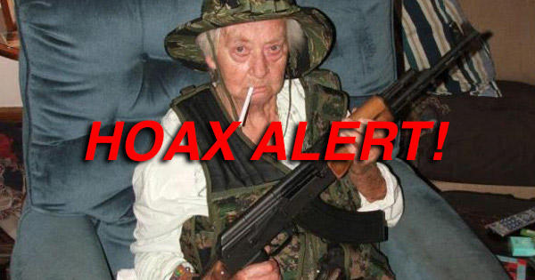 'Little Old Lady' With AK-47 DID NOT Save Cops From Gang
