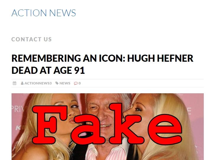 Fake News: Hugh Hefner NOT Dead at Age 91 (Updated: Now He Is...)