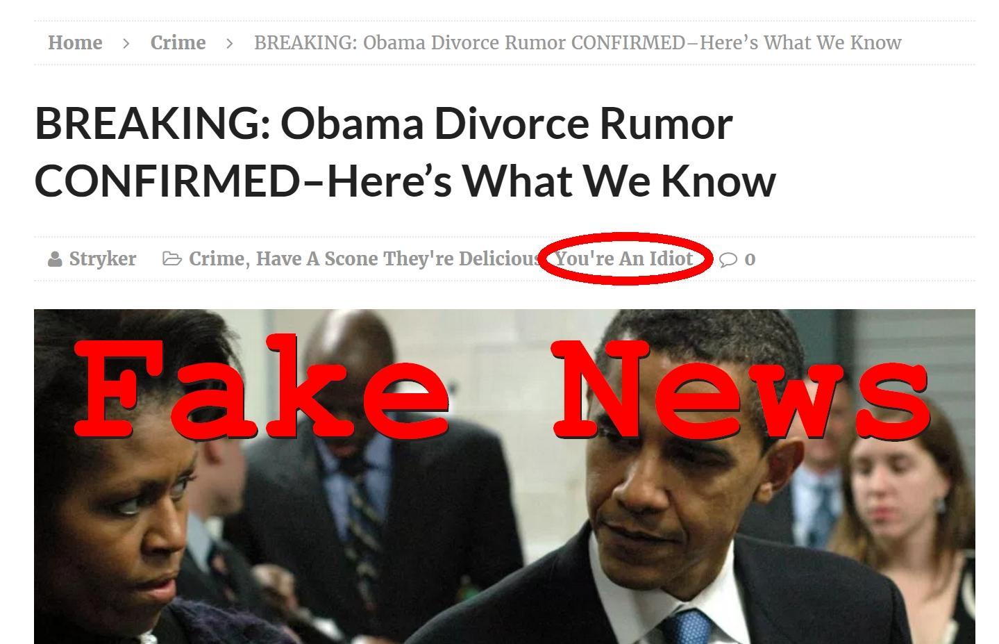 Fake News: Obama Divorce Rumor NOT Confirmed