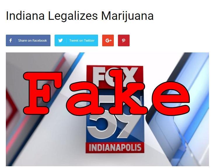 Fake News: Indiana Did NOT Legalize Marijuana