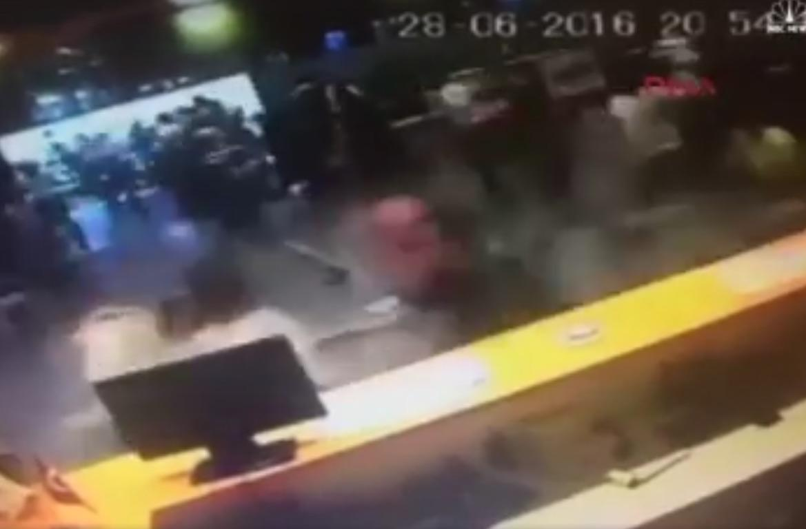 Security Video Shows Panic & Suicide Bomb Blast At Istanbul's Airport