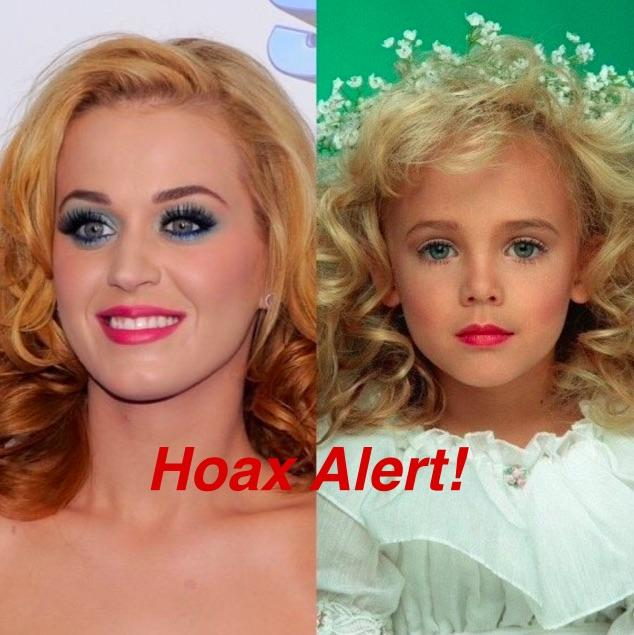HOAX ALERT: Katy Perry IS NOT Older JonBenét Ramsey