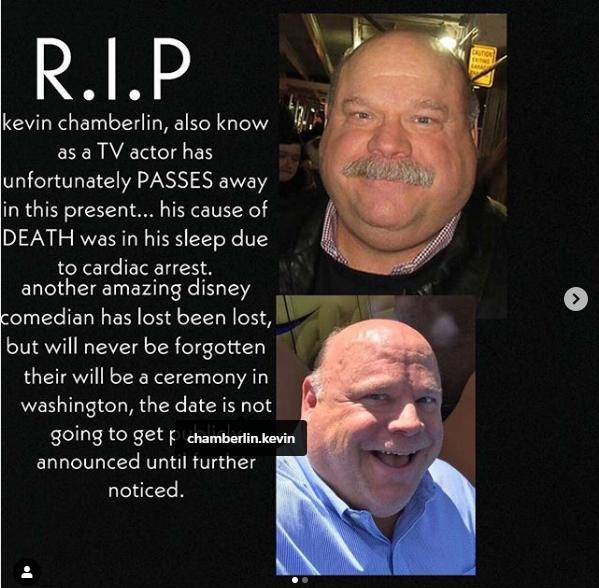 Fake News: Actor Kevin Chamberlin Did NOT Pass Away Due To Cardiac Arrest