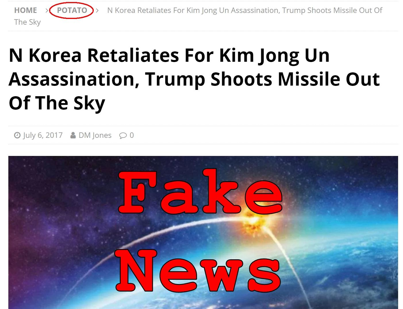Fake News: Kim Jong Un NOT Assassinated, NO Missile Retalliation By New Dictator