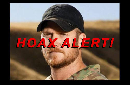Hoax Alert: Navy WILL NOT Posthumously Charge 'American Sniper' Chris Kyle With Stolen Valor